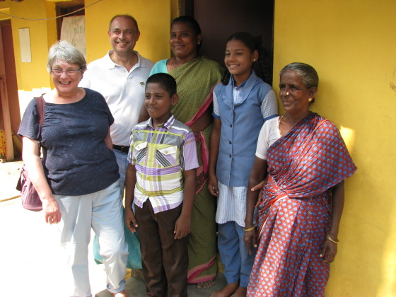 Kishore and family with Linda ad Staveley