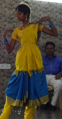 One of the spectacular classical Indian dances by a sponsored university student.